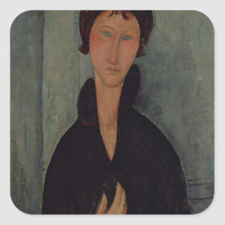 Woman with Blue Eyes, c.1918 Square Sticker