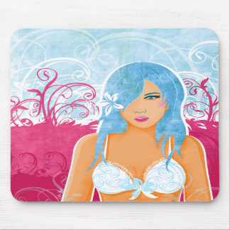 Woman With Blue Hair mousepad
