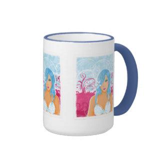 Woman With Blue Hair mug