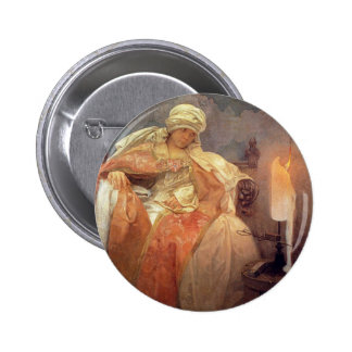 Woman with Burning Candle Pin