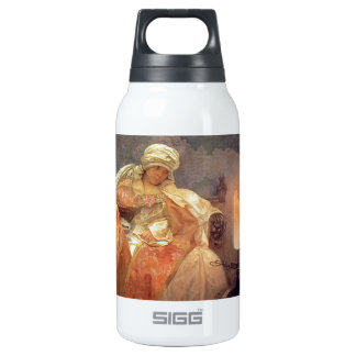 Woman with Burning Candle 10 Oz Insulated SIGG Thermos Water Bottle