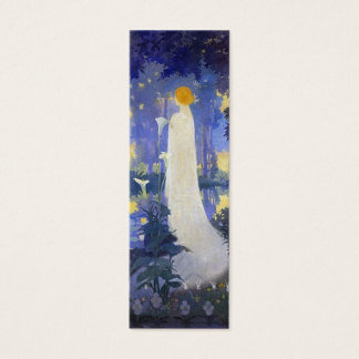 Woman with Calla Lilies Bookmark Mini Business Card