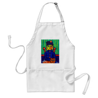 Woman with Cat 31 by Piliero Adult Apron
