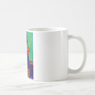 Woman with Cat 31 by Piliero Coffee Mug