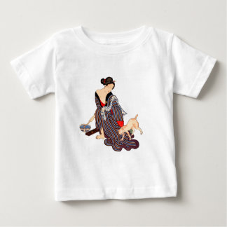Woman with Cat Baby T-Shirt