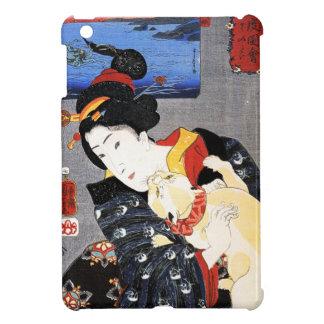 Woman with Cat by Utagawa Kuniyoshi 歌川国芳 iPad Mini Covers