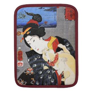 Woman with Cat by Utagawa Kuniyoshi 歌川国芳 iPad Sleeves