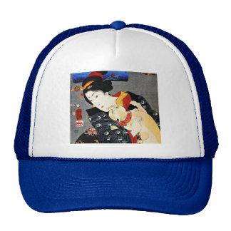 Woman with Cat -Japanese Art - Utagawa Kuniyoshi Trucker Hat