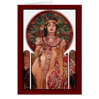 Woman with Champagne Glass Card
