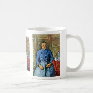 Woman With Coffee Pot By Paul Cézanne Coffee Mugs