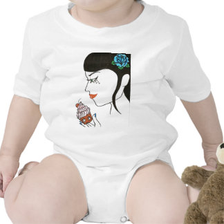 Woman with Cupcake Tee Shirts