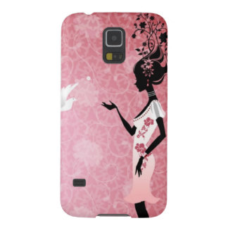 Woman with Dove Galaxy S5 Covers
