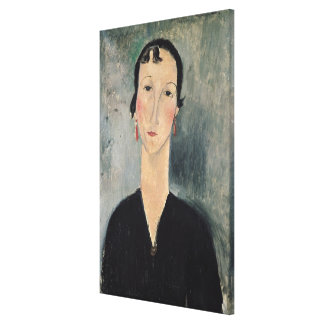 Woman with Earrings Canvas Print