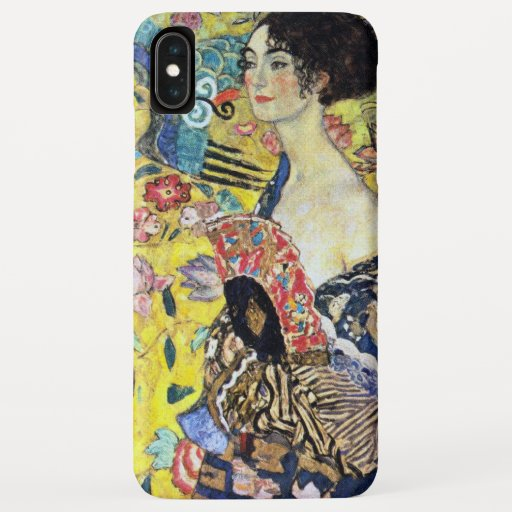 Woman with Fan by Gustav Klimt iPhone XS Max Case