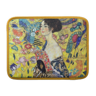 Woman with Fan by Gustav Klimt MacBook Sleeve