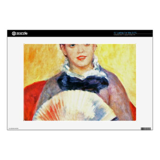"""Woman with fan by Pierre Renoir Decals For 13"""" Laptops"""
