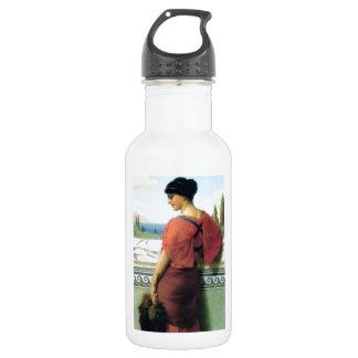 Woman with fan Godward painting 18oz Water Bottle