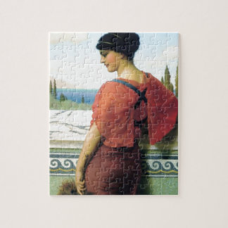 Woman with fan Godward painting Puzzles