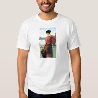 Woman with fan Godward painting T Shirt