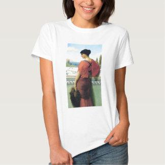 Woman with fan Godward painting Tee Shirt