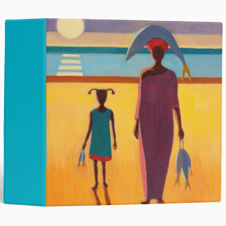Woman with Fish 3 Ring Binders
