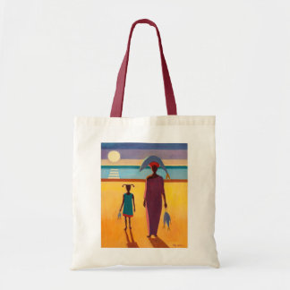 Woman with Fish Budget Tote Bag
