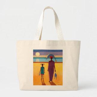 Woman with Fish Jumbo Tote Bag