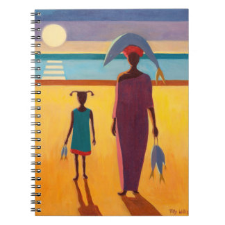 Woman with Fish Notebooks
