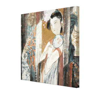 Woman with Floral Hairpin Canvas Print