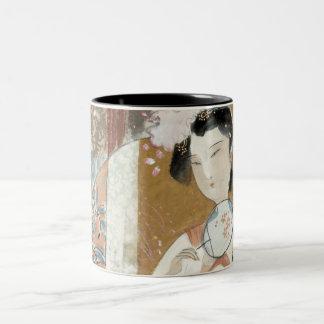 Woman with Floral Hairpin Coffee Mug