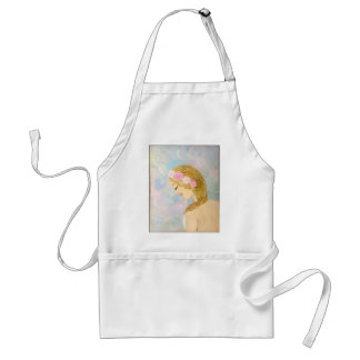Woman with Flowers in her Hair Adult Apron