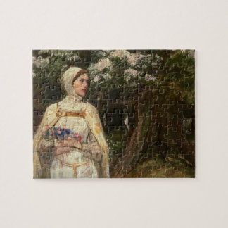 Woman with Flowers Oil Painting Puzzle