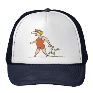 Woman with Frog Mesh Hat