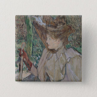 Woman with Gloves, 1891 Pinback Button