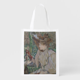 Woman with Gloves, 1891 Reusable Grocery Bag