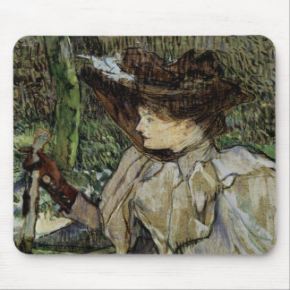 Woman with Gloves by Toulouse-Lautrec Mouse Pad