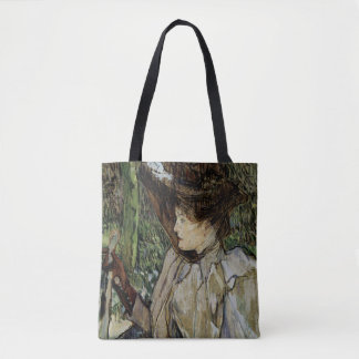 Woman with Gloves by Toulouse-Lautrec Tote Bag