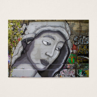 Woman With Gray Hood Business Card