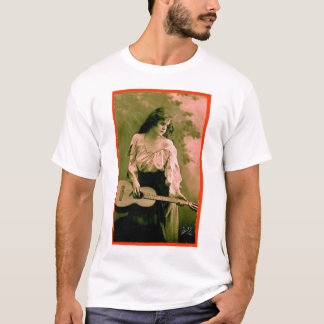 Woman with Guitar T-Shirt