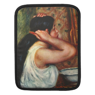 Woman with hair combs by Pierre Renoir Sleeve For iPads