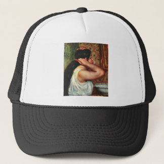 Woman with hair combs by Pierre Renoir Trucker Hat