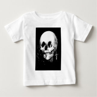 Woman with Halloween Skull Reflection In Mirror Baby T-Shirt