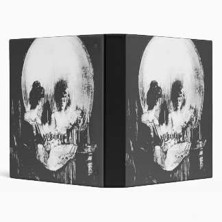 Woman with Halloween Skull Reflection In Mirror Binder
