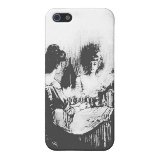 Woman with Halloween Skull Reflection In Mirror Cover For iPhone SE/5/5s