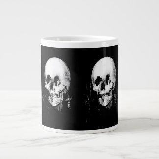 Woman with Halloween Skull Reflection In Mirror Giant Coffee Mug