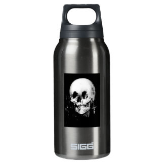 Woman with Halloween Skull Reflection In Mirror Insulated Water Bottle