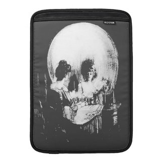 Woman with Halloween Skull Reflection In Mirror MacBook Air Sleeve