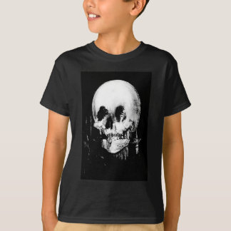 Woman with Halloween Skull Reflection In Mirror T-Shirt