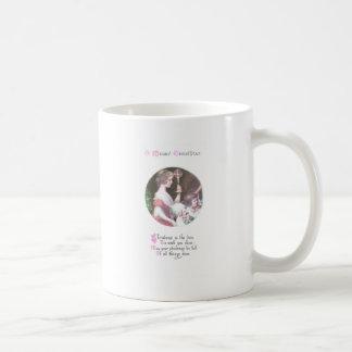 Woman with Haloed Candle Vintage Christmas Coffee Mug
