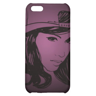 Woman with hat case for iPhone 5C